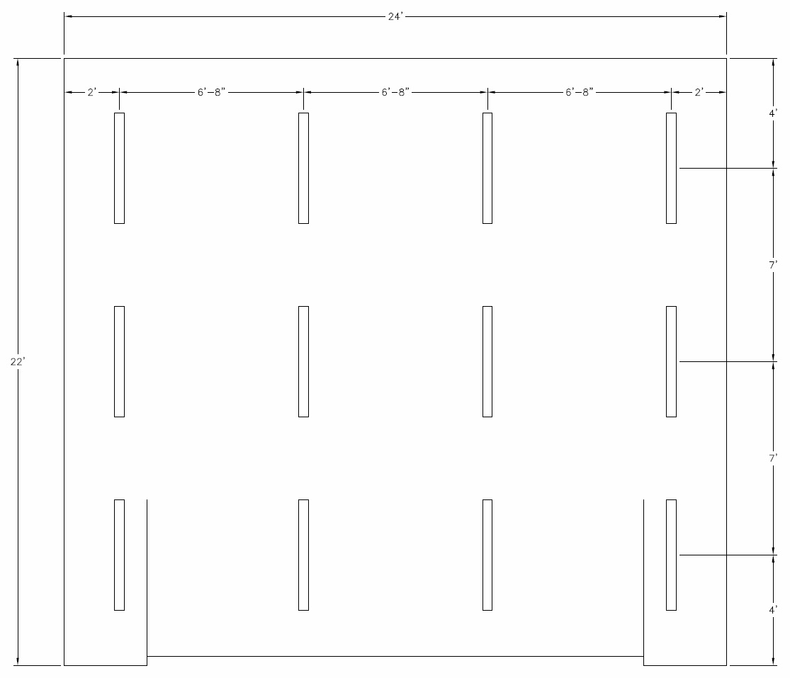 22x24 Garage Lighting Layout Comments Needed The